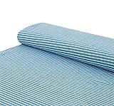 Nadeltraum Baumwoll - Jersey Stoff Streifen Melange
