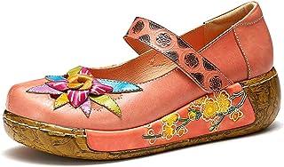 gracosy damplattform sandaler skor för vår sommar läder slip on mule träskor avslappnad komfort kilade tofflor sandaler vi...