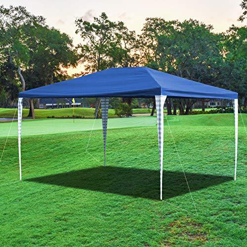 wolketon Pavillon Wasserdicht Gartenpavillon 3x4m Hochwertiges Zelt, Material PE-Plane Ohne Seitenteile Blau Festzelt für Garten Party Markt Familientreffen