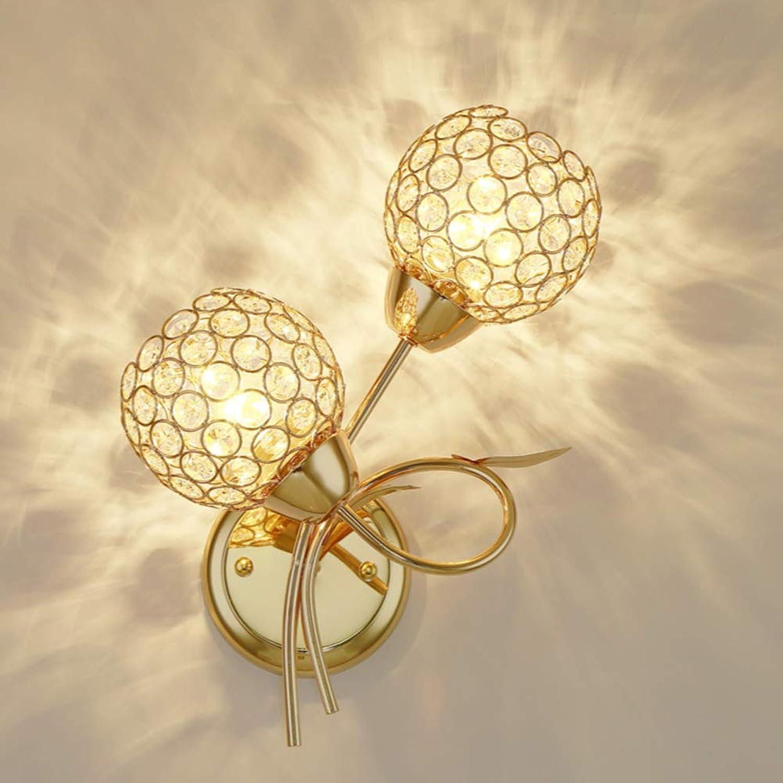 CUICAN LED Crystal Indoor dekorativ Wandleuchte, Schlafzimmer Nachttisch leselicht 7W Eingebettet Hardwire InsGrößetion Leuchte-F W25H38cm
