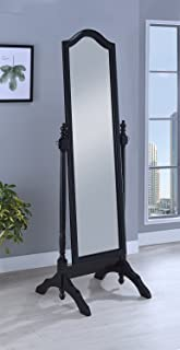 Coaster Home Furnishings Coaster Transitional Cheval Floor Mirror with Arched Top, Black