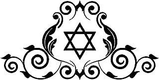 UYEDSR Pegatinas para coche, 2 unidades, diseño de estrella de David, símbolo judío, adhesivo de vinilo para coche, decora...