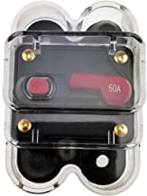 KUMEED Circuit Breaker Trolling Motor Auto Car Marine Boat Bike Stereo Audio Inline Fuse Inverter with Waterproof Cover (50A)