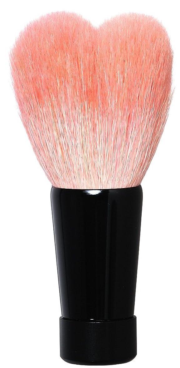 ドロー谷最近熊野筆 ハート型洗顔ブラシ(中?ブラック軸) KOYUDO Collection