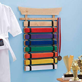 DIBSIES Personalization Station Natural Wood Karate Belt Display (8 Belt)