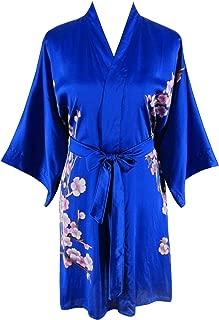 Women's 100% Silk Kimono Short Robe - Classic Colors and Prints
