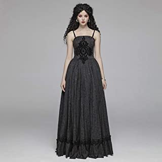Black Dresses for Women, Gothic Retro Tube Jacquard Embroidery Long Black Dresses for Women, Gorgeous Elegance Black Dress for Women for Christmas Prom Sexy Dress Christmas Costume Ball Gown