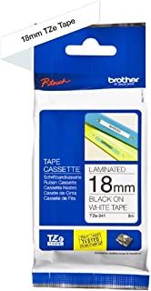 Brother TZe-241 3/4in Labeling Tape (26.2ft, Black on White)