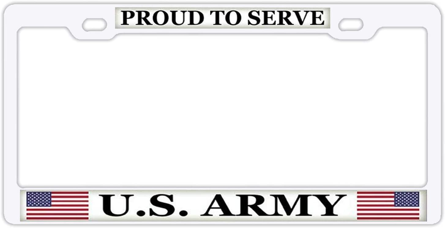 Conaway Proud to 25% OFF Serve U.S Army Frame White San Diego Mall T Sign License Plate