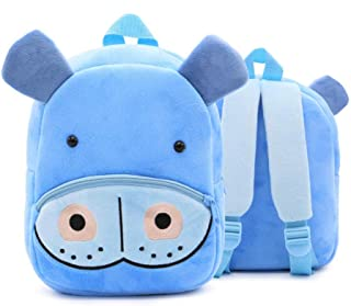 Kids Cartoon Plush School Bags Cute Animal Kindergarten Soft Backpack for Boys Girls Student Lovely Schoolbags Zhaozb (Color : Brown)