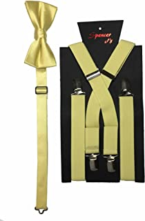 Men's X Back Suspenders & Bowtie Set Variety of Colors