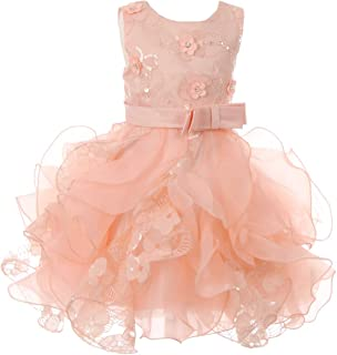 CinderellaCouture-CC1132BW2-baby lace dress with satin sash tape