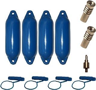 Majoni Komplettset 4er-Set Star Fender mit 4 Fenderleinen, 2 Ersatzventilen und 1 Ventiladapter