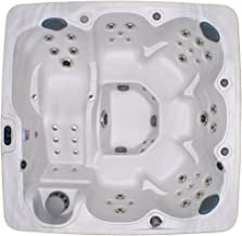 Home and Garden Spas HG71A 6 Person 71 Outdoor Spa with Mp3 Auxiliary Output & Ozone, 82