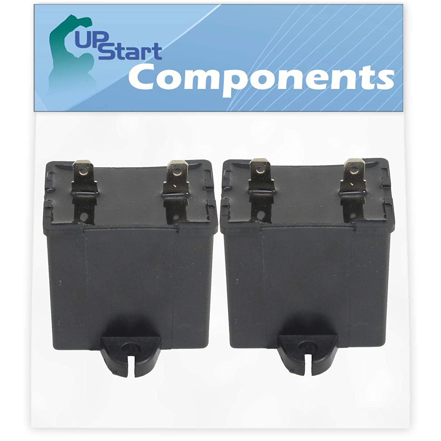 2-Pack W10662129 Refrigerator and Freezer Compressor Run Capacitor Replacement for Kenmore/Sears 10672154110 Refrigerator - Compatible with 2169373 WPW10662129 Run Capacitor