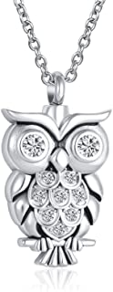 LuxglitterLin Pet Cat Dog Paw Print Owl Elephant Hummingbird Cremation Jewelry for Ashes Heart Urn Necklace Keepsake Memor...