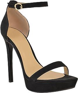 Amazon Zapatos Mujer esSandalias Negras Para Tacon nyvN8wPm0O