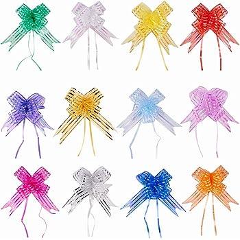 PandaHall Elite 14 hebras 14 Colores Mixtos 80 x 5 cm Hecho a Mano Embalaje Lazo Cesta de Regalo Lazos para Festival Caja decoración del Paquete: Amazon.es: Hogar