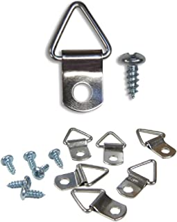 Frame Triangle Ring Hanger - 100 Pack - Small D-Ring Picture Hanger with Screws - Picture Hang Solutions