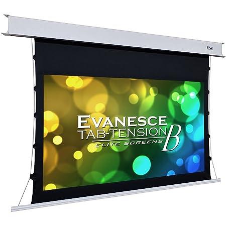Elite Screens Evanesce Tab-Tension B, 100-inch Diagonal 16:9, 4K / 8K HD Ready, Recessed in-Ceiling Electric Tab Tensioned Projector Screen, Matte White Projection Screen Surface, ETB100HW2-E12