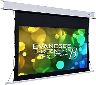 Elite Screens Evanesce Tab-Tension B, 92-inch Diagonal 16:9, 4K / 8K HD Ready, Recessed in-Ceiling Electric Tab Tensioned ...