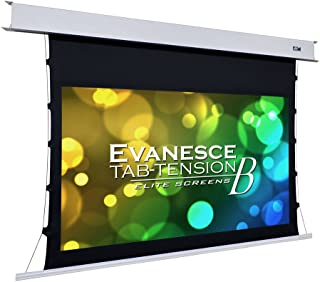 Elite Screens Evanesce Tab-Tension B, 100-inch Diagonal 16:9, 4K / 8K HD Ready, Recessed in-Ceiling Electric Tab Tensioned Projector Screen, Matte White Projection Screen Surface, ETB100HW2-E12