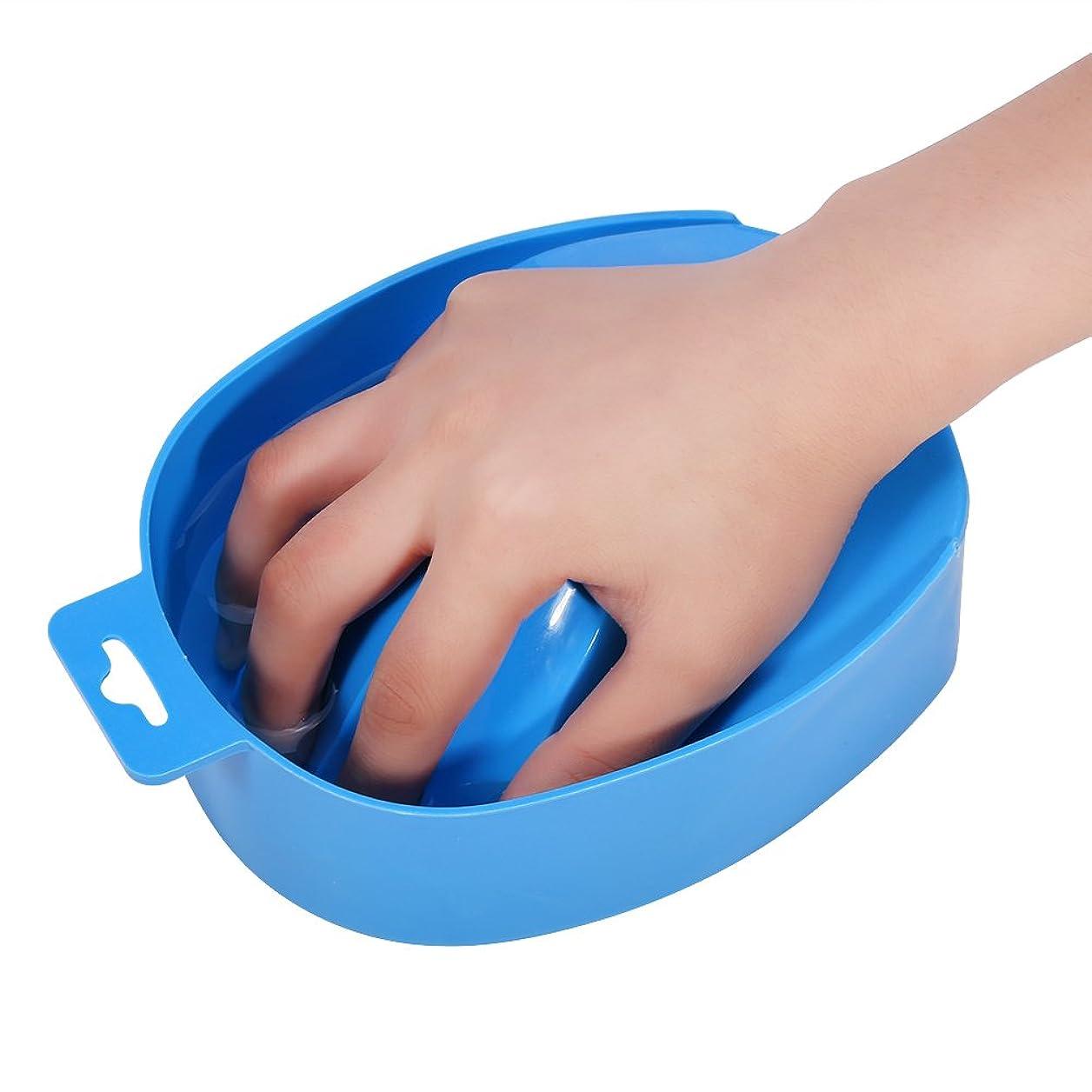 勝つパネルライトニングネイルアートのヒント手洗いボウルマニキュアスパツール(青)