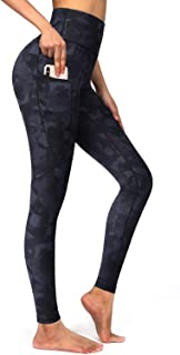OUGES Women's High Waist Yoga Pants Pockets Workout Leggings Tummy Control-26 inches