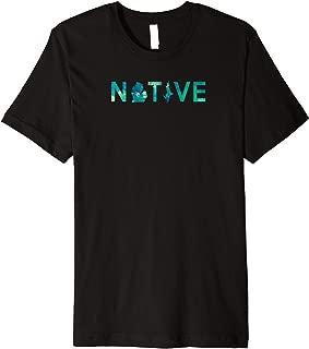 Native Michigander Mitten State Green Watercolor Art Shirt