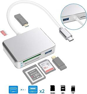 Eletrand Tipo C a Lector de Tarjetas XQD Lector Tarjetas de Memoria SD/Micro SD USB 3.0..