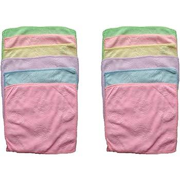 YuvaanEnterprises Cotton Face Towel (25x25 cm, Multicolour) - Pack of 12
