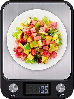 ميزان مطبخ ال سي دي رقمي 10 كغم/1غرام باضاءة خلفية متعددة الوظائف ستانلس ستيل من ادوات قياس وزن الطعام