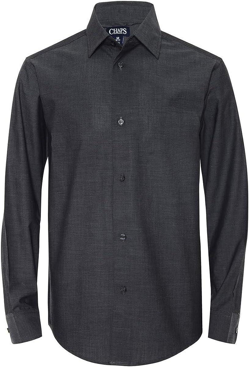 4~20 BOYS Charcoal LONG Sleeve Dress Shirt ALL SIZES