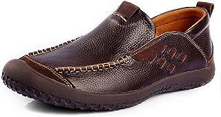 [QIFENGDIANZI] 靴 メンズ ドライビングシューズ カジュアルシューズ ローファー スリッポン モカシン デッキシューズ ビジネスシューズ お洒落 身長アップ 軽量 通気性 アウトドア ローカット 通勤 通学 イエロー ブラウン