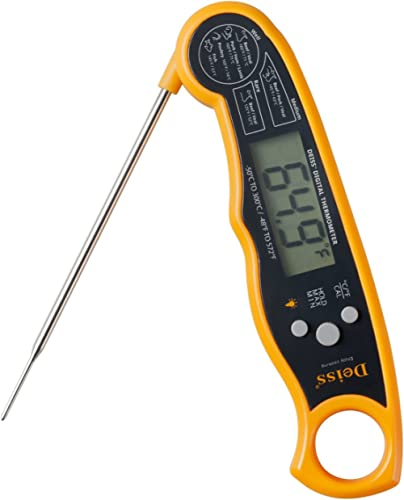 Deiss PRO Digital Meat Thermometer – Lightning Fast Precise Readings with Backlight Display, Memory Function and Cali...