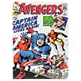 TPACC Case for iPad 2017/2018 9.7-inch, Cartoon Comic Superhero Alliance Design Leather Flip Case Stand Shockproof Protector Cover for iPad 5th 9.7 inch 2017 / iPad 6th 2018 /iPad Air 1th