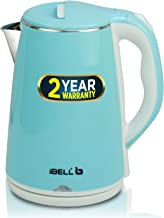 iBELL SEKB20L Premium 2.0 Litre Stainless Steel Electric Kettle,1500W Auto Cut-Off Feature, Blue