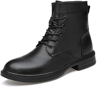 Tanxinxing Bottines tendance pour homme en cuir véritable, décontractées, confortables et souples, semelle extérieure (vel...