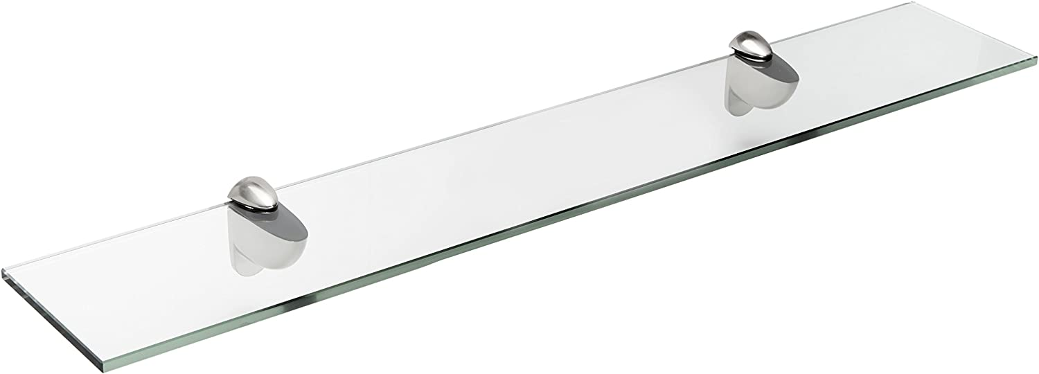 Spancraft Glass Heron Shelf Brushed Steel Many popular brands Year-end annual account x 18 10