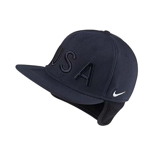 93e077d7da6 Nike Unisex USA Pro AeroBill Sport Casual Fitted Hat Cap-Dark Obsidian