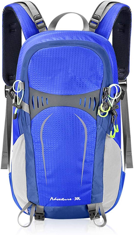 HUDUI 30L taktischer Bergsteigerrucksack mit wasserdichtem Outdoor-Sportreisetasche mit Innenrahmen und weiblichem Bergsteigen mit Regenschutz