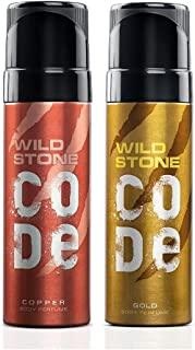 Wild Stone Code Copper and Gold Body Perfume Combo for Men, Pack of 2 (120ml each)
