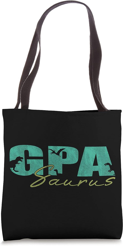 Gpa Saurus Fathers Day Gpasaurus Grandpa Gift for Men Tote Bag