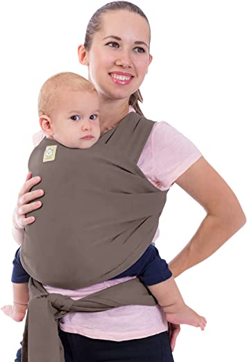 Baby Wrap Carrier by KeaBabies - All-in-1 Stretchy Baby Wraps - 3 Colors - Baby Sling - Infant Carrier - Hands-Free Babies Carrier Wraps   Great Baby Shower (Copper Gray)