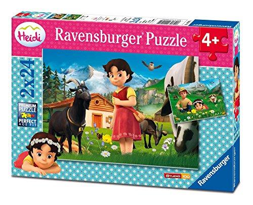 Ravensburger Kinderpuzzle 09091 - Heidi in den Alpen - 2 x 24 Teile