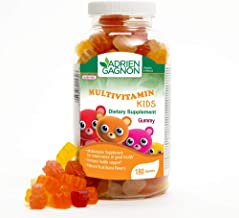 Adrien Gagnon – Multivitamin Kids – Fulfills Daily Vitamin Needs – Burst of Natural Fruit Flavors – 180 Gummies – Kids