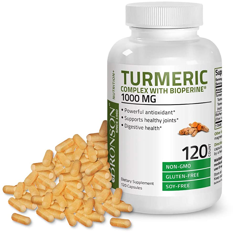 Turmeric Curcumin with BioPerine - High Potency Premium Joint Support with 95% Standardized Curcuminoids - Non-GMO, Gluten Free Soy Free Capsules with Black Pepper - 120 Count