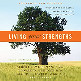 Living Your Strengths audiobook cover art
