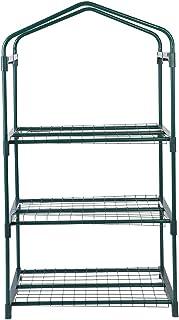 Pegatinas de Hierro - 69 x 49 x 126 cm Mini Soportes de Hierro de Invernadero de 4 niveles - Estantes Jardín Balcones Patios Decoración - Adecuado para la Cubierta Vegetal en Patios