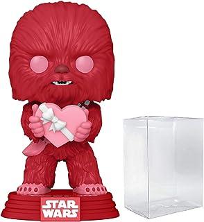 Funko Wobbler ? : La última Jedi de Star Wars Chewbacca con porg Figura (incluido de vinilo con Pop Box Protector Caso)